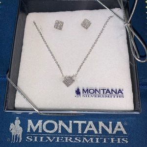 Montana Silversmiths Necklace and Earring Set NIB
